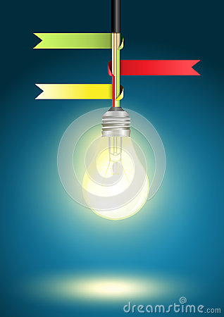 Vector Creative Template with light bulb idea