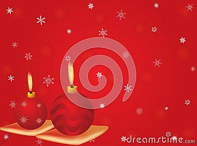 Vector cristmas candles