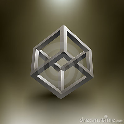 Vector Cube Illusion