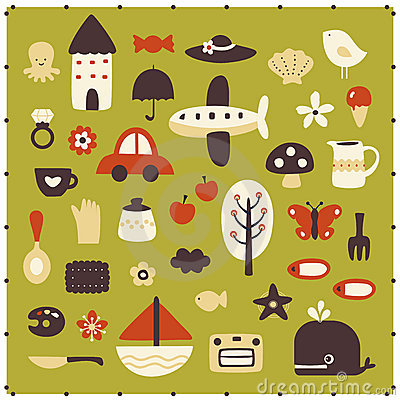 Free Vector Cute Elements Stock Photos - 9269863