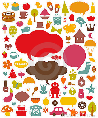 Free Vector Cute Elements Collection Stock Photo - 13610850