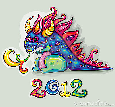 Free Vector Cute Happy Dragon Royalty Free Stock Photos - 21932038