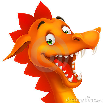 Free Vector Cute Smiling Happy Dragon As Cartoon Or Toy Stock Photography - 21180142