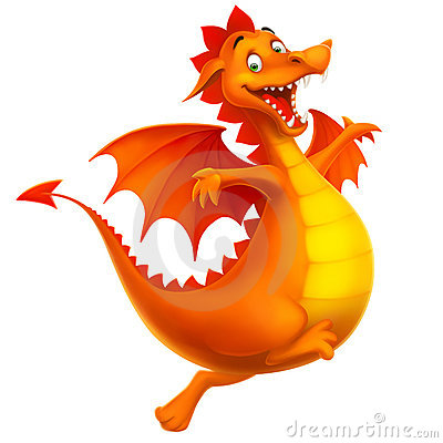 Free Vector Cute Smiling Happy Dragon As Cartoon Or Toy Stock Photography - 22305702