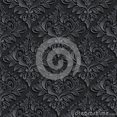 Free Vector Damask Seamless Pattern Background. Elegant Royalty Free Stock Images - 54994729