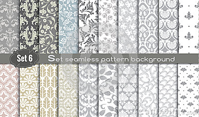 Vector damask seamless pattern background Vector Illustration