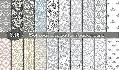 Vector damask seamless pattern background Vector Illustration