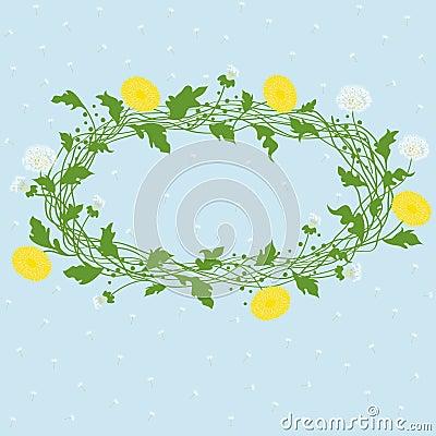 Vector dandelion frame