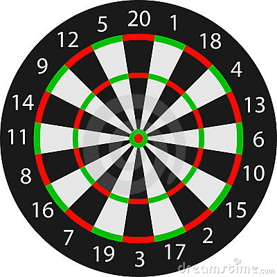 Vector dartboard