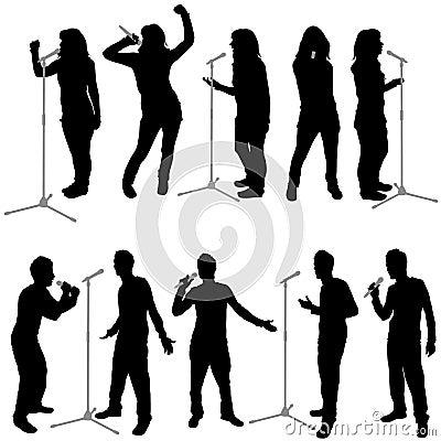 Vector de la gente del canto