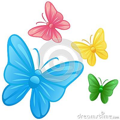 Vector de las ilustraciones de la mariposa