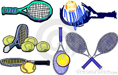 Vector de las imágenes de la raqueta de tenis