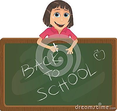 Vector de nuevo a la ilustración de la escuela
