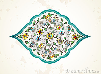 Vector decor, arabesque in Eastern style. Vector Illustration