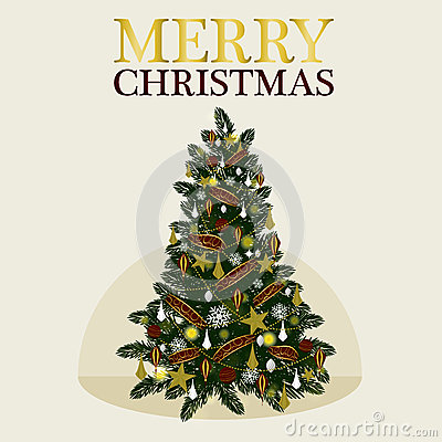 Free Vector Decoration Christmas Tree For Holiday .Vector/Illustration Stock Images - 80260984