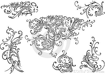 Vector decoration elements