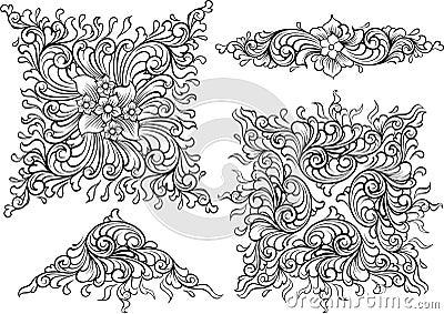 Vector decoration elements