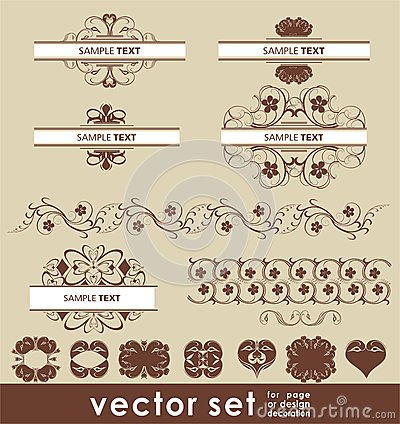 Vector decoration set