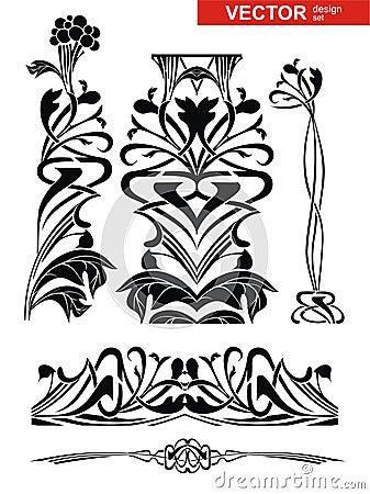 Vector decoration set