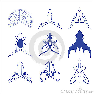 Vector of decorative arrow and pointer
