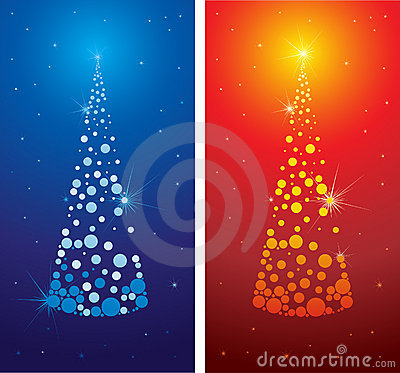 Vector decorative cute Christmas tree background