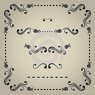 Vector decorative elements.
