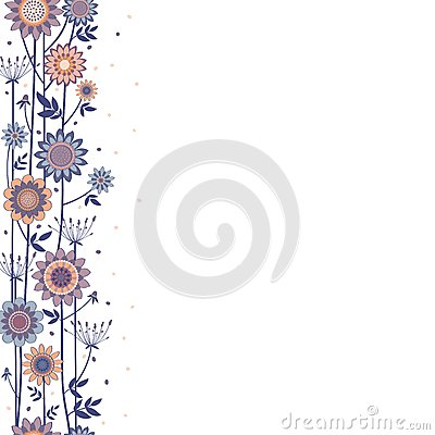 Vector decorative flowers fond