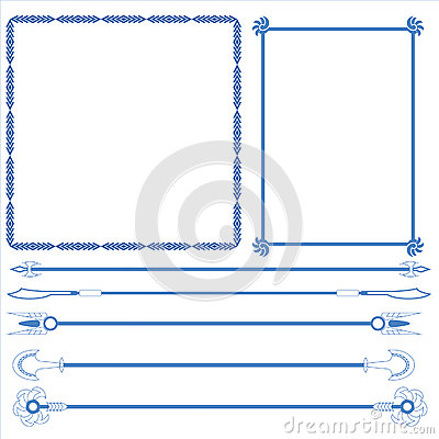 Vector of decorative frame and line