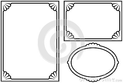Vector decorative frames on white background