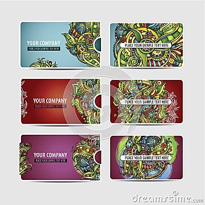 Vector Decorative ornamental ethnic cards
