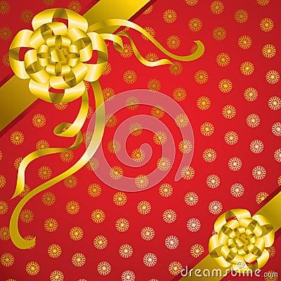 Vector decorative present background