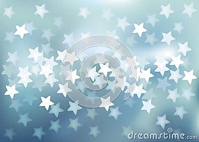 Vector Defocused lights in star shape