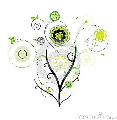 Vector del diseño floral