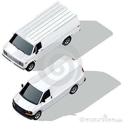 Vector delivery vans set