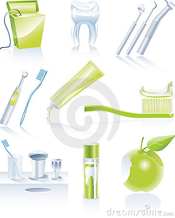 Free Vector Dental Icon Set Stock Images - 8452164