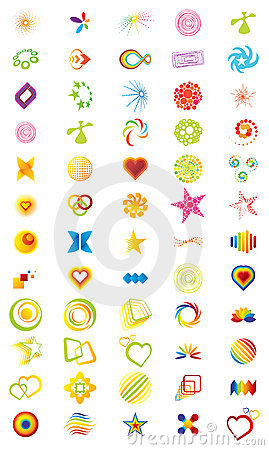 Free Vector Design Elements And Logos Stock Photography - 12712042