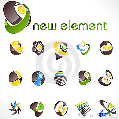 Free Vector Design Elements. Set 13. Royalty Free Stock Photography - 10693737