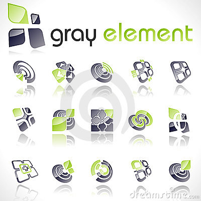 Free Vector Design Elements. Set 14. Royalty Free Stock Photography - 10813627