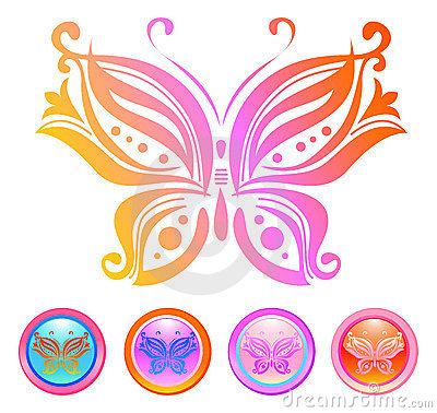 Free Vector Design Of Butterfly Stock Image - 5503261