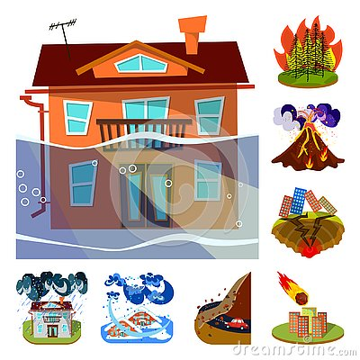 Free Vector Design Of Cataclysm And Disaster Icon. Set Of Cataclysm And Apocalypse  Vector Icon For Stock. Stock Photography - 145097832
