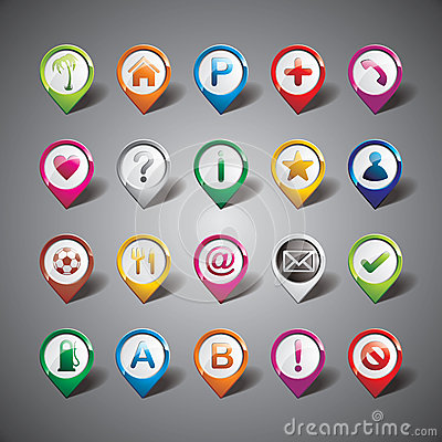 Vector design with pointer icon set on gray backgr