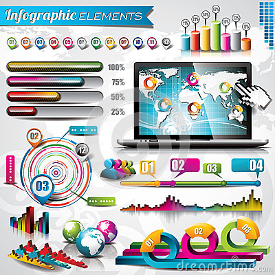 Vector design set of infographic elements.