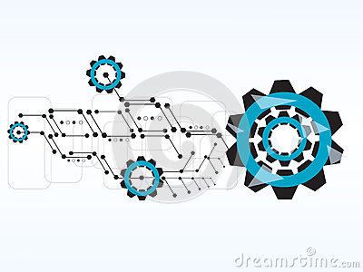 Vector design technology gear cogs background. Vector Illustration