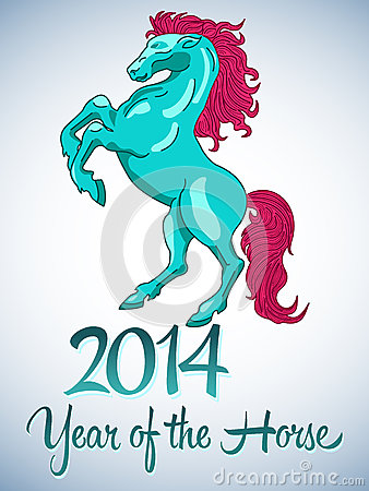 Vector design year of the horse 2014