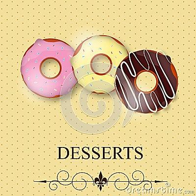Vector dessert menu