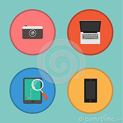 Vector of Device icon set