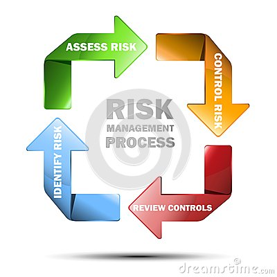 Vector diagram of risk managment