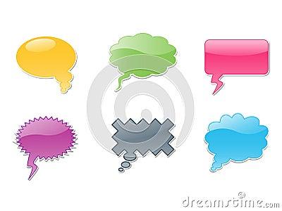 vector dialog bubbles