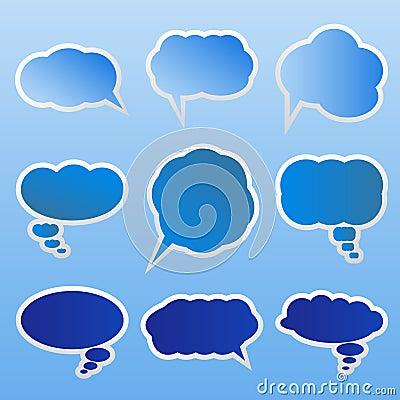 Vector Dialog clouds