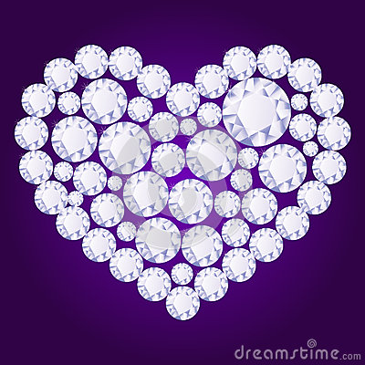 Vector diamond heart